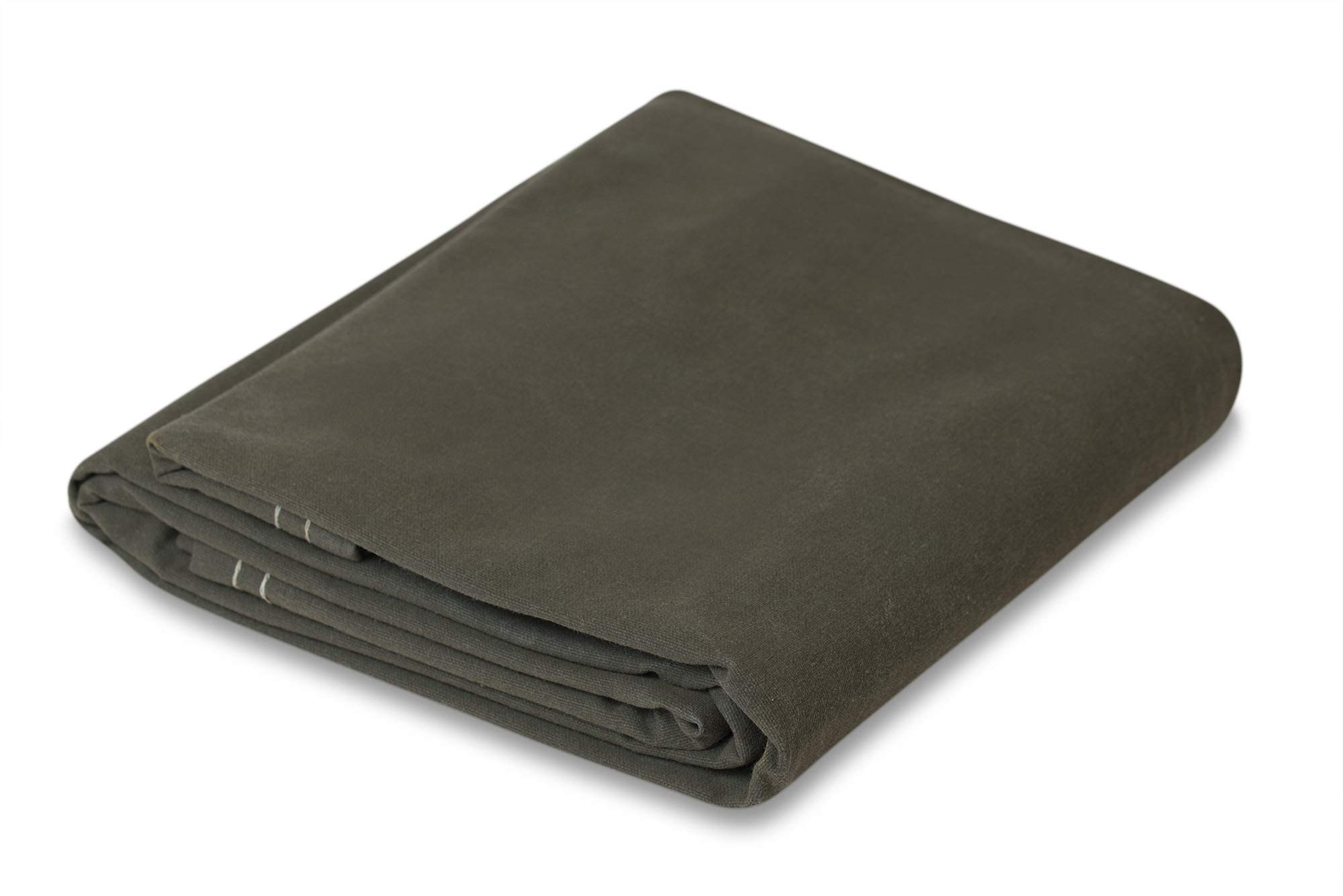 8' x 10' Olive Drab 21 oz Canvas Tarpaulin by CCS CHICAGO CANVAS & SUPPLY