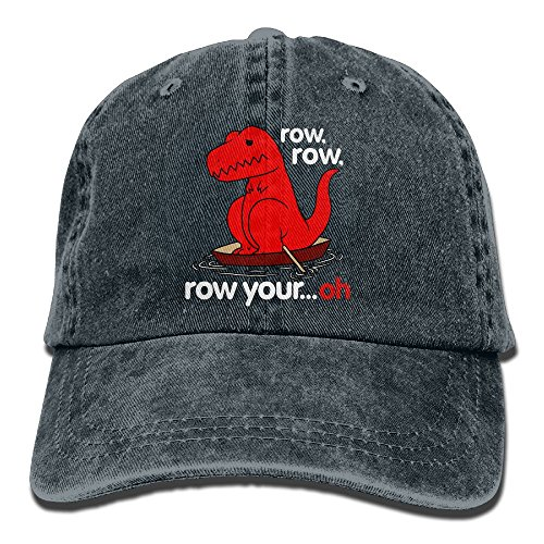 Hainingshihongyu Row Row Row Your Oh Sad T Rex Baseball Caps Adult Sport Cowboy Trucker Hats Adjustable - El Paso Stores In Sports Texas