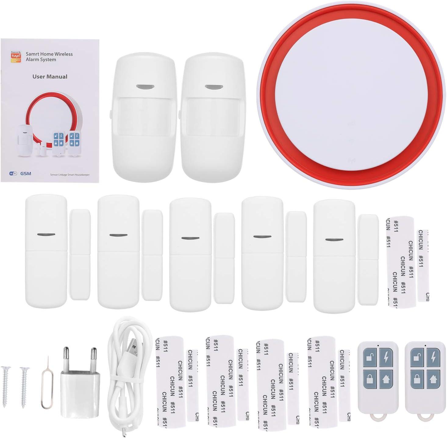 OWSOO 433MHz Sistema de Alarma WiFi gsm 2G, 110dB Flash ...