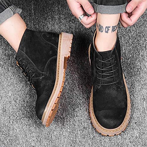 Y Hombre 42 color Jiuyue Con Sencillas Bota Tamaño De Clásicas Para Alta Botas shoes Verde Negro Tobillo Retro Cómodas Estilo 2018 Trabajo Botines Hombre Eu zwtqBwHC