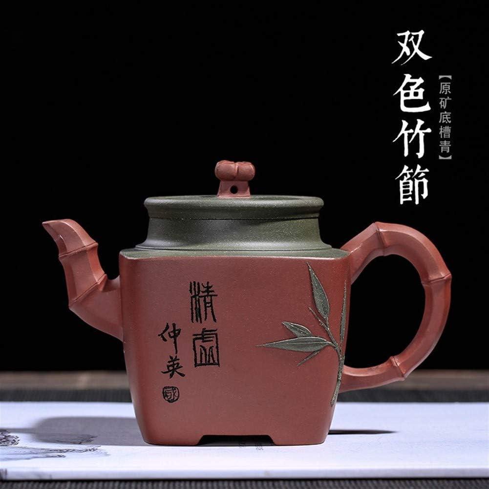 ティーポット 大容量 耐熱 ティーポットは、下部スロット共和国緑青の色ピュアハンド竹茶箱代理鉱石 伝統的 贈り物 高級感 おしゃれ