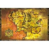 Officially Licensed Lord of the Rings Middle Earth Map Poster 91.5x61cm