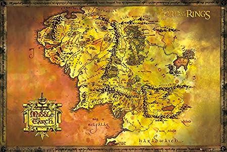 Lord of the Rings GB Eye LTD, El Señor de los Anillos, Mapa ...