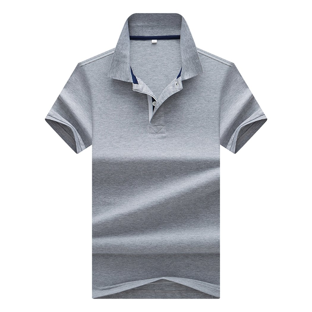 Sun Lorence Big Boy's School Uniform Dry Fit Short Sleeve Collared Solid Polo T-Shirt Grey M by Sun Lorence (Image #1)