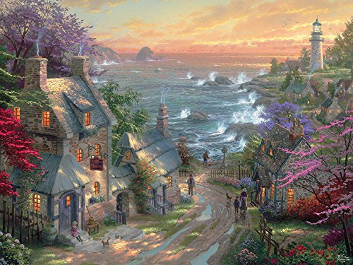Ceaco Perfect Piece Count Puzzle - Thomas Kinkade - The Village Lighthouse