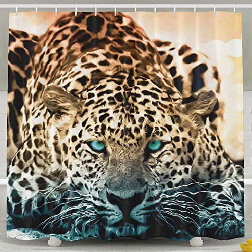 - Cool Animal Jaguar WaterProof Bathroom Shower Curtain 60x72inch