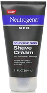 Neutrogena Men Sensitive Skin Shave Cream 5.10 oz (Pack of 5)