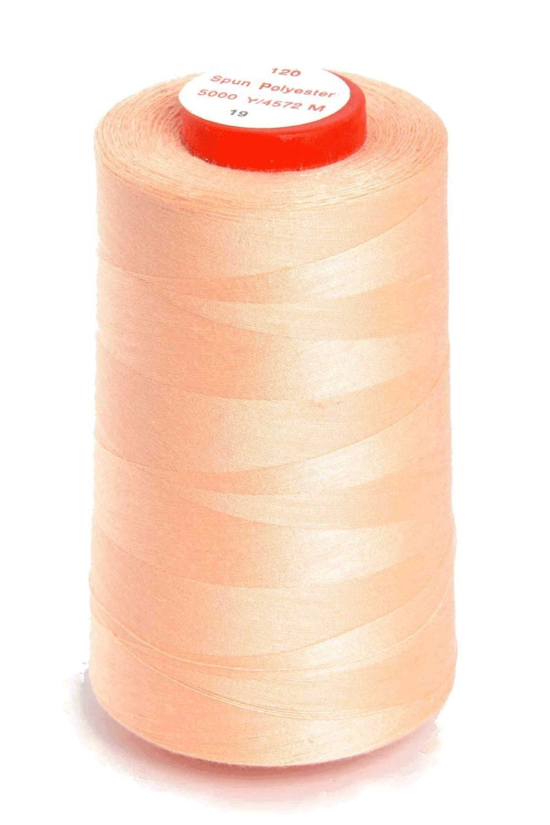 Nova N5000reel/19 | Peach Polyester Superstitch 120 Thread | 5000yd Reel