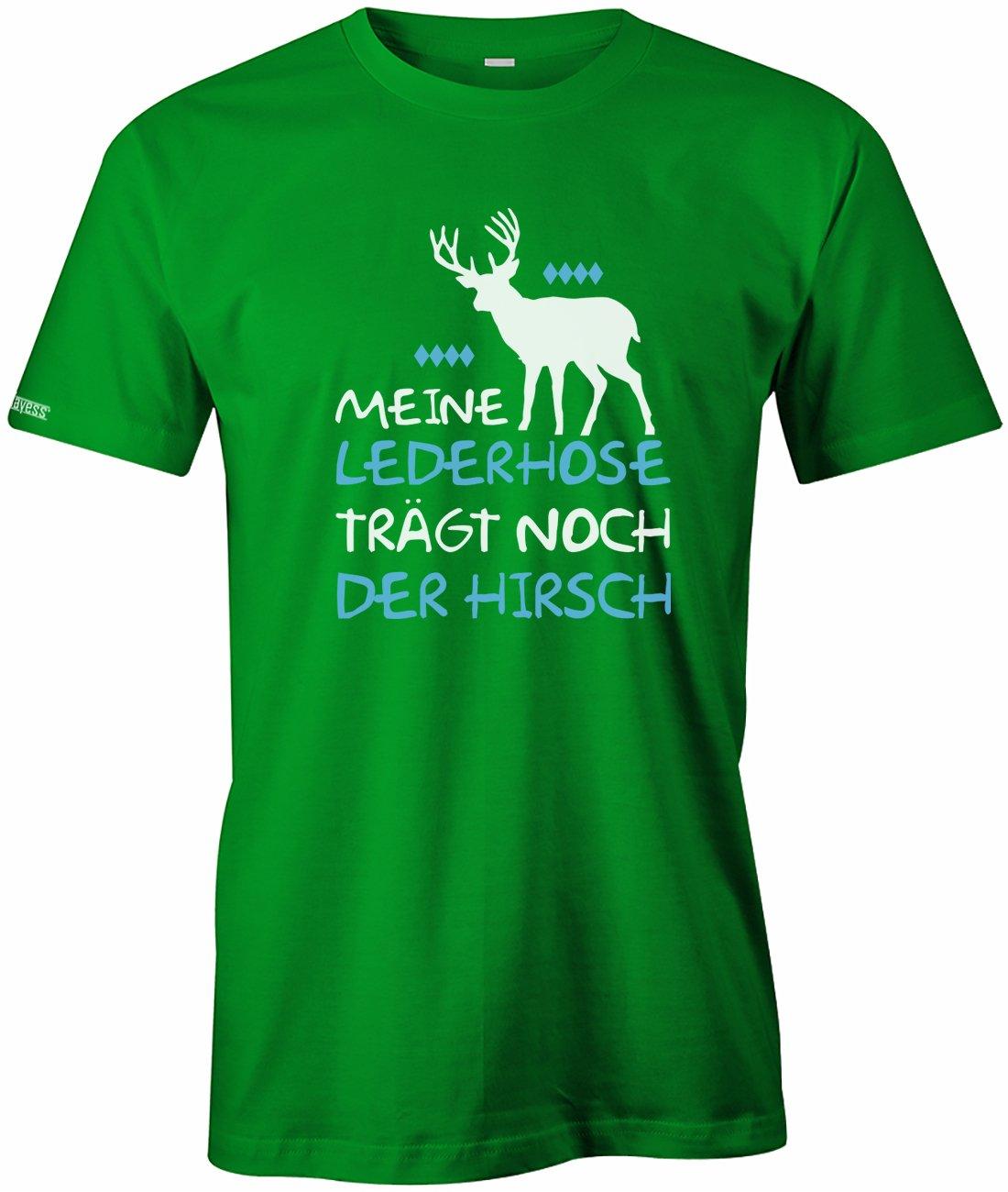 f2e37ff136d236 Meine Lederhose trägt noch der Hirsch - Oktoberfest - Herren T-Shirt ...