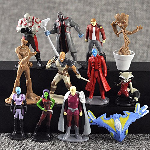 12pcs Guardians of the Galaxy Vol.2 Action Figures PVC Dancing Groot Rocket Raccoon Dolls Play Set Toy Cake Topper by ToysOutlet_USA