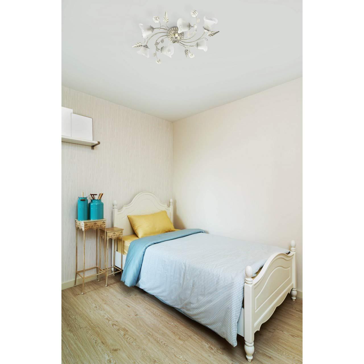 MW-Light 242026101 Aplique de Pared Color Blanco 1 x 60W E14