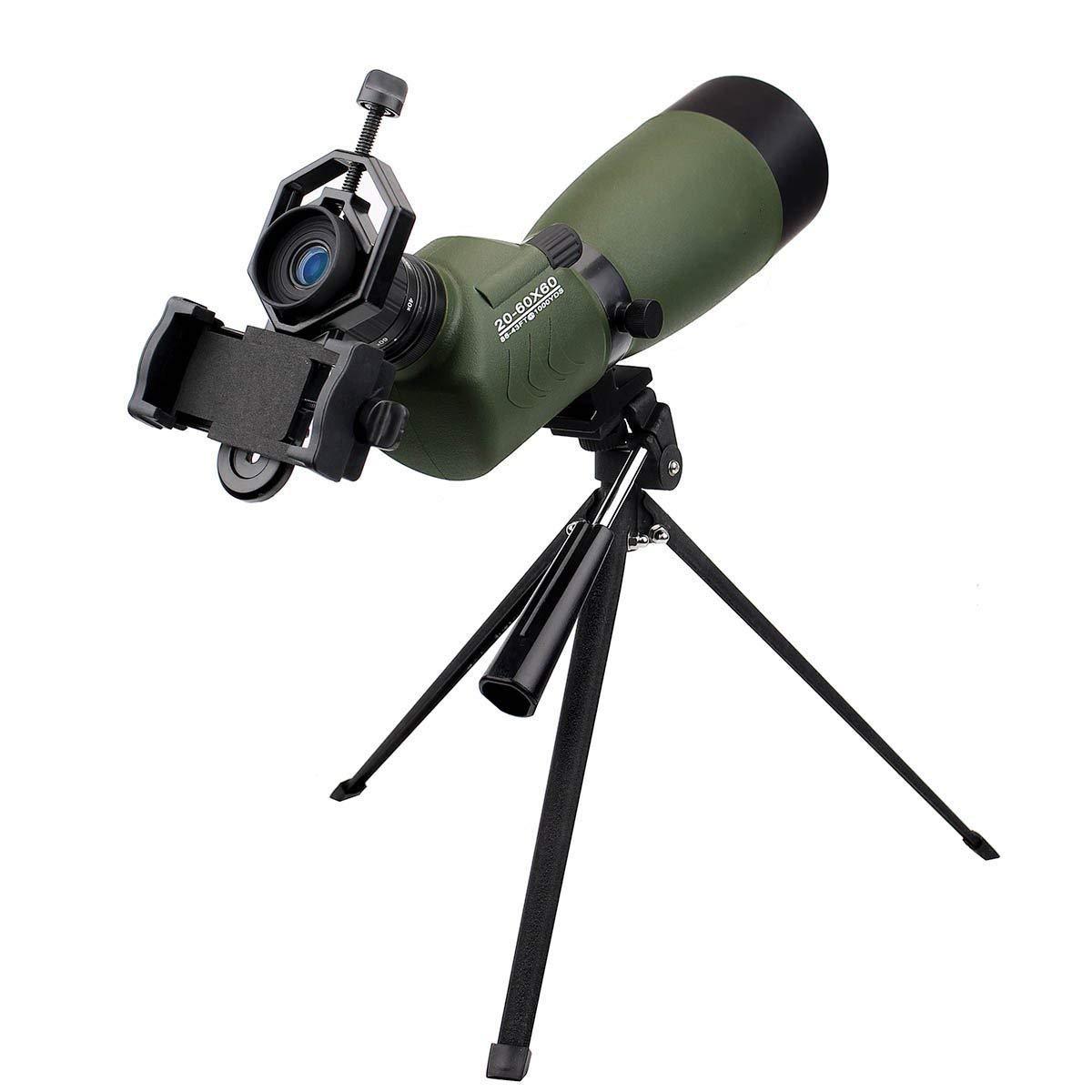 【返品不可】 C-Xka 望遠鏡 単眼鏡高倍率フィールドスコープ 望遠鏡 (20倍-60倍 防水天体観測野鳥観察 スマホアダプタ付き B07JD3D3FH 日本語マニュアル付き (20倍-60倍 60mm) B07JD3D3FH, 安芸区:2f11352b --- a0267596.xsph.ru