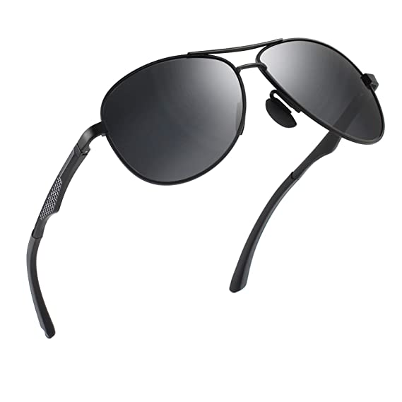 5ac296eae4 CGID GA61 Premium Al-Mg Alloy Pilot Polarized Sunglasses UV400