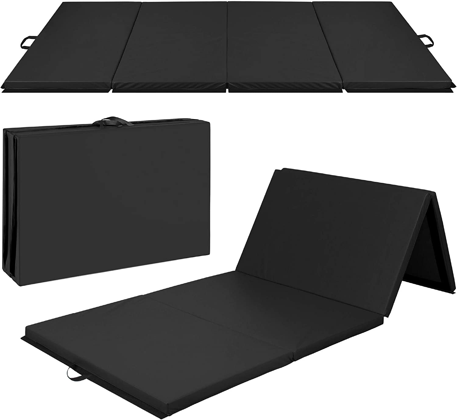 Best Choice Products 10ftx4ftx 2ft Folding Gym Mat 4-Panel Exercise Gymnastics Aerobics Workout Fitness Floor Mats w/ Carrying Handles