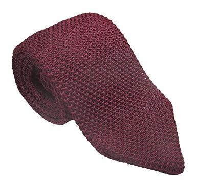 JOSVIL Corbata de Punto Rojo Vino. Corbatas de moda y elegantes ...