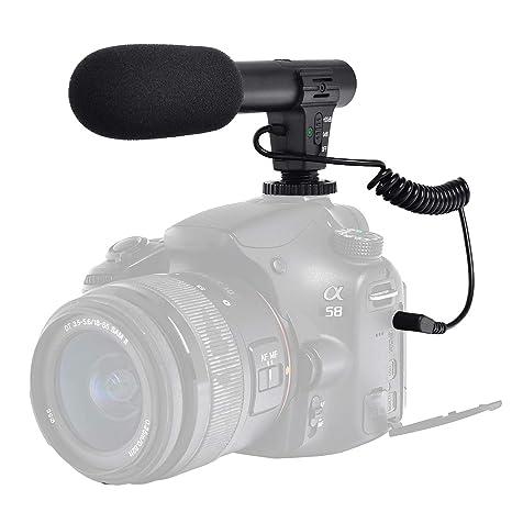Micrófono de vídeo Profesional, micrófono para cámara réflex ...