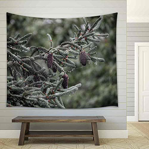 wall26 – Rainy Day in The Forest – Fabric Wall Tapestry Home Decor – 68×80 inches