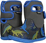 Bogs Baby Bogs Waterproof Insulated Toddler/Kids Rain Boots for Boys and Girls, Dino Print/Gray/Multi, 9 M US Toddler