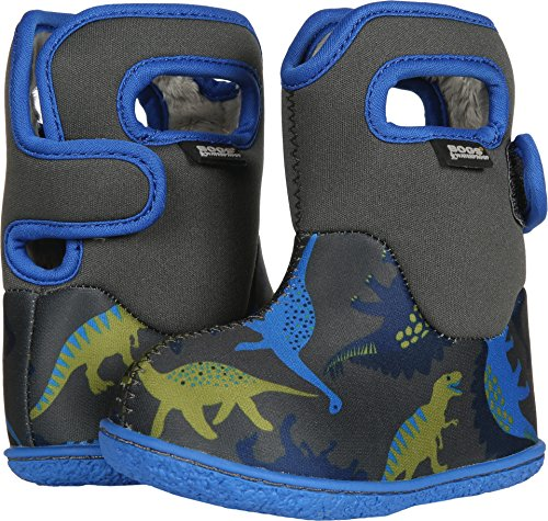 Bogs Baby Dino Snow Boot, Dark Gray Multi, 6 M US Toddler by Bogs