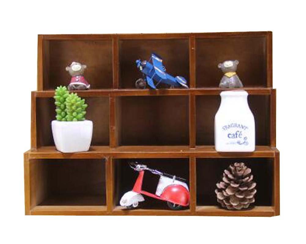 DRAGON SONIC Classical Elegant Wood Storage Rack Storage Chests Home Decorations