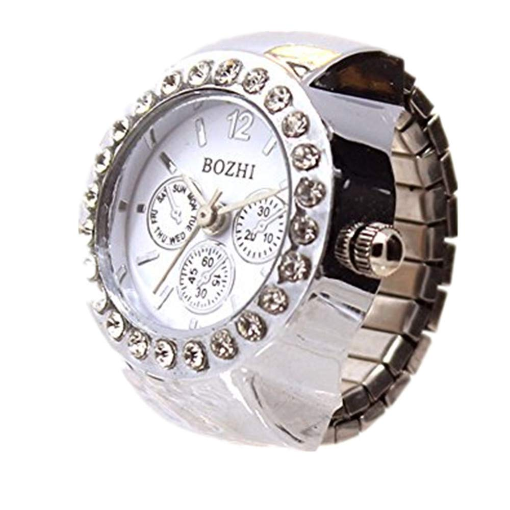 Womens Finger Ring Watch,Vickyleb Creative Cool Unique Analog Quartz Women's Band Wrist Watch,Round Dial Case Stainless Steel Case Casual WristWatches