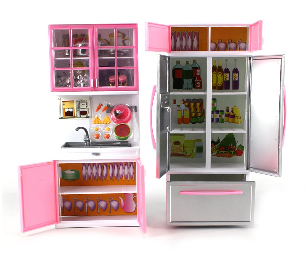 amazon com u0027deluxe modern kitchen u0027 battery operated toy kitchen