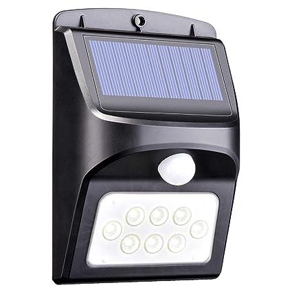 Maunakea Luces Solares de Seguridad con Sensor de Movimiento, Luces LED para Exteriores Resistentes al