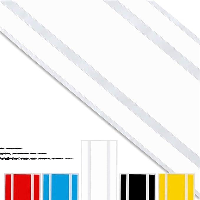 Adatech Vinyl Sticker Aufkleber Fur Auto Vinyl Streifen Universal Weiß Farbe 130cm Auto