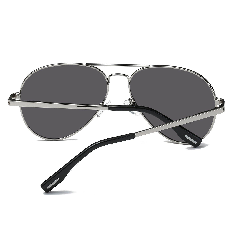 DZW Nouveaux hommes et femmes de mode lunettes de soleil polarisées , silver