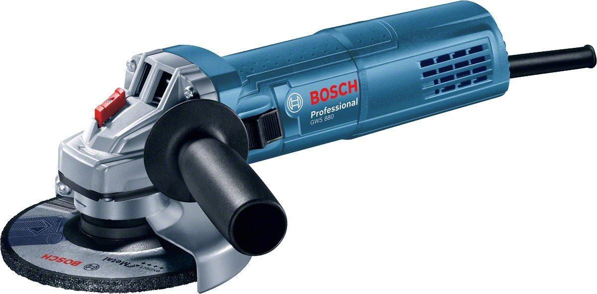 880 Watt, Scheiben-/Ø: 125 mm, Leerlaufdrehzahl: 11.000 min-1, im Karton Bosch Professional Winkelschleifer GWS 880