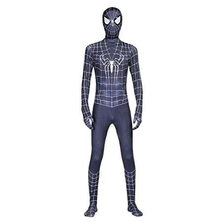 HYYSH Black Movie Version Traje de Spiderman Coser Medias ...