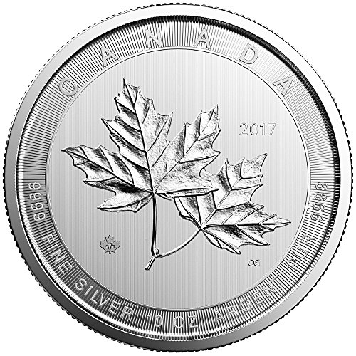 2017 CA Canada Silver Maple Leaf (10 oz) $50 Brilliant Uncirculated Royal (Silver Maple Leaf Bullion)