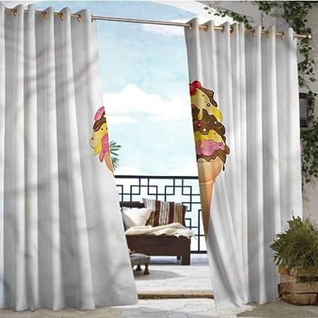 Andrea Sam - Cortina de privacidad para Exteriores, diseño de pérgola Helada, con Iconos de Grunge para el Porche Frontal, Cubierta de Patio, cenador, calcetín de Playa, casa: Amazon.es: Hogar