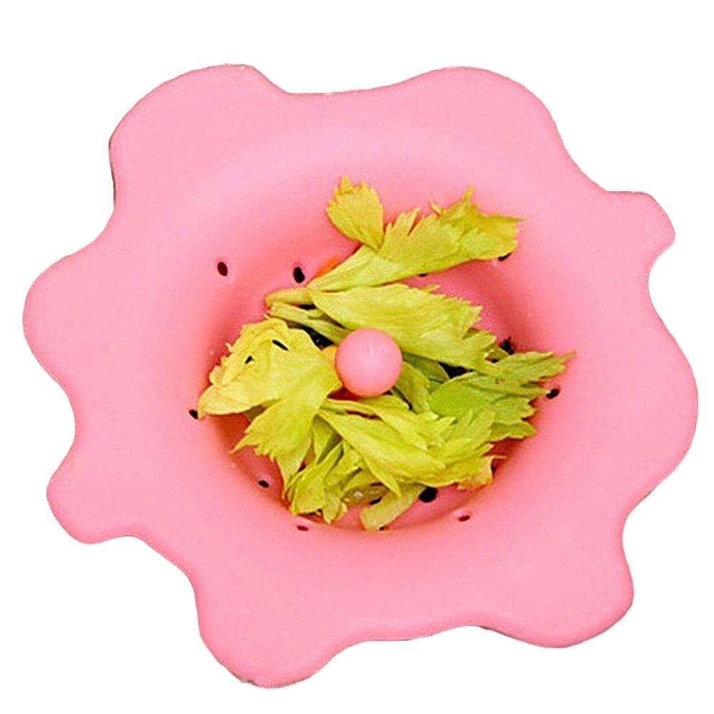 PU Ran carino a forma di fiore Tritarifiuti filtro per lavello tappo di scarico stopper utensili da cucina Blue
