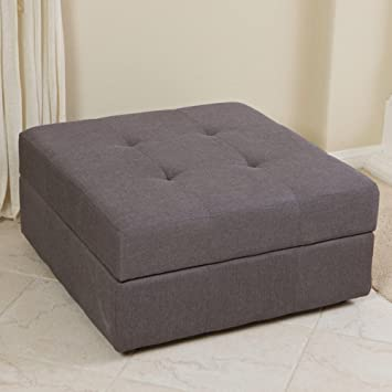 Amazoncom Best Selling Cedar Fabric Storage Ottoman BrownGrey