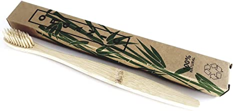 Escova de Dente de Bambu Sustentável Limpeza Higiene Bucal