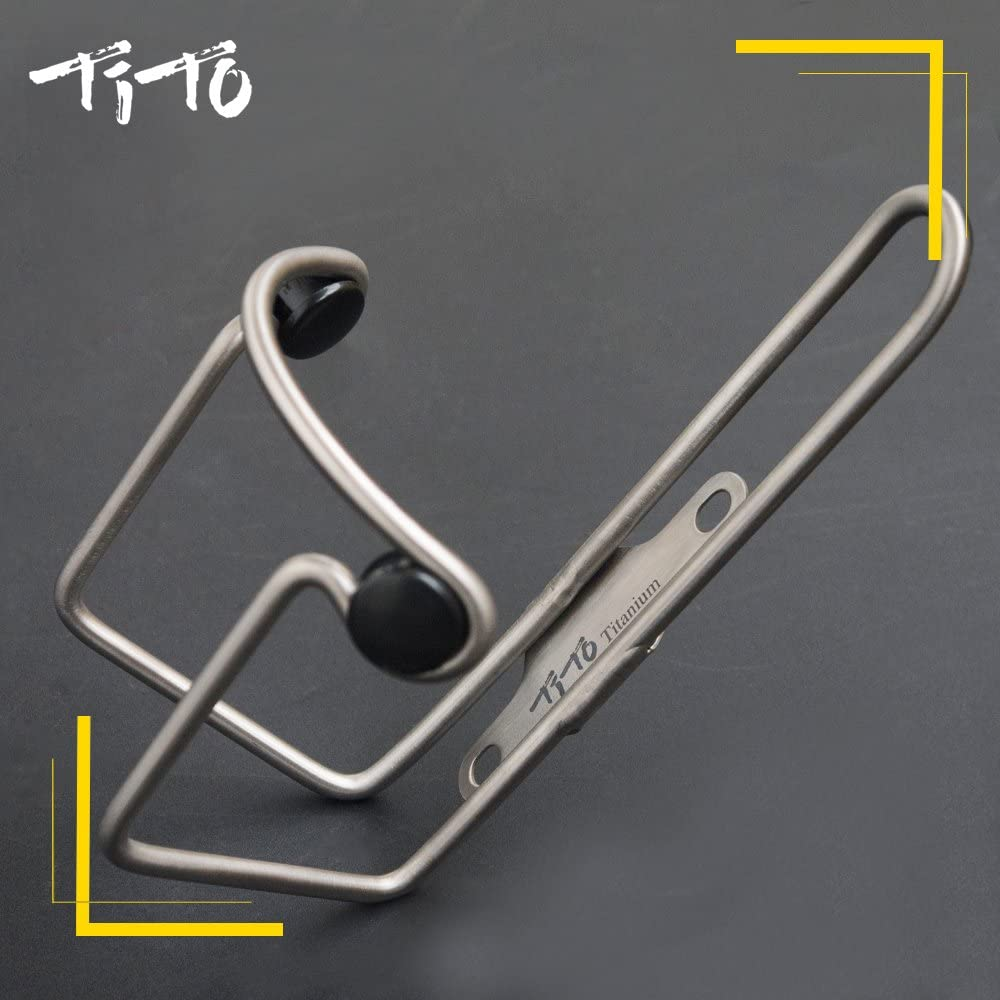 Titanium Alloy Bottle Cage Scrub Bicycle Water Cup Holder Bike Accessories