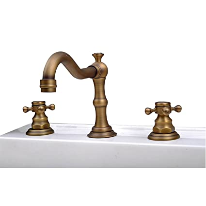 Charmant Lightinthebox® Deck Mount Contemporary Antique Inspired Solid Brass Finish  Bathroom Sink Faucet Bathtub Mixer Taps