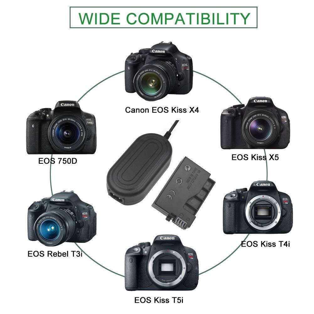 Amazon.com: Kit de Cargador para Cámara Canon, gonine ACK-E8 ...