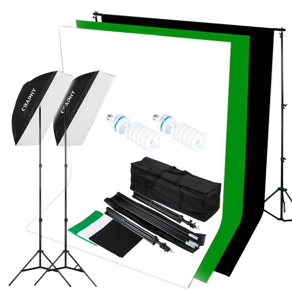 CRAPHY Photography Studio Flash Lighting Kit for $93 59