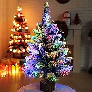 50cm fibra ptica rbol de navidad artificial pino verde - Decoracion navidena amazon ...