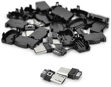 10Pcs USB Type B MICRO USB Male 5Pins Plug Connector JACK Adapter Socket DIY