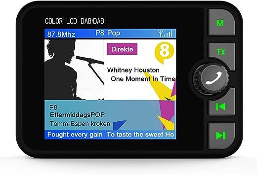 "2.4/"" Wireless Car DAB Digital Radio Receiver Adapter Bluetooth Music Streaming"