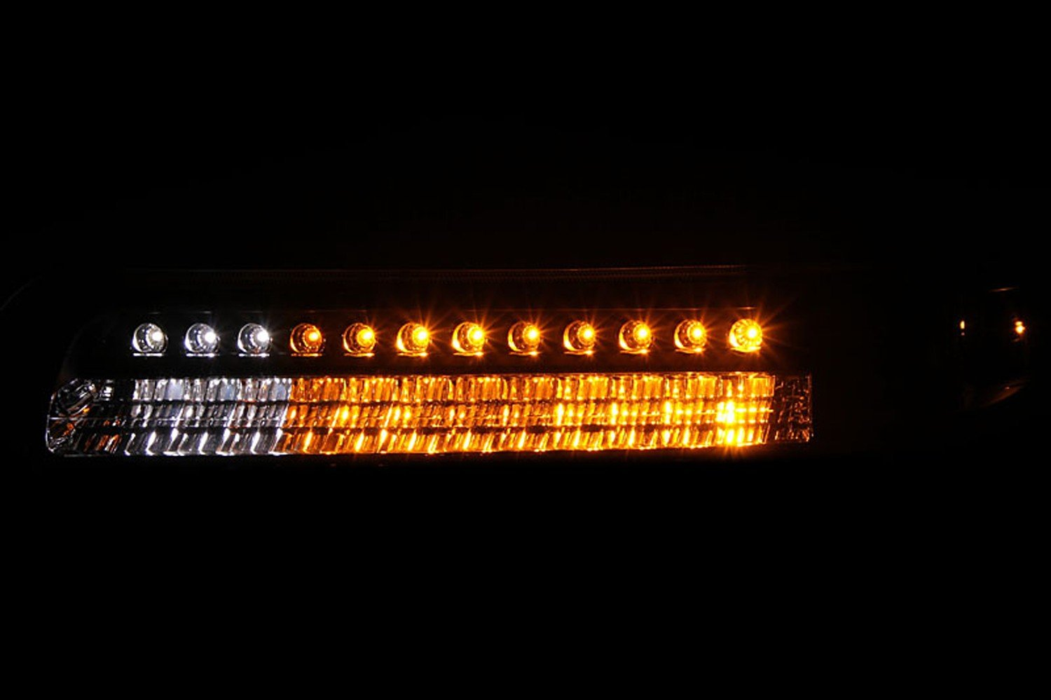 HEADLIGHTSDEPOT LED Signal Light Compatible with Chevrolet Silverado 1500 2500 3500 Suburban Tahoe 1999-2006 Includes Left Driver and Right Passenger Side Signal Lights with Smoke Lens