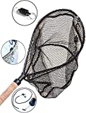 3 16 cast net - ActionSports Fishing Net - 4in1 - Rubber Coated Anti-Snag Netting - Cork Handle - Trout Fishing Net - Kayak Fishing Net - Fly Fishing Nets - WITH Magnetic Quick Release - Safety Lanyard - Carabiners