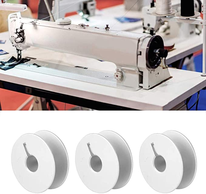 HEEPDD Bobinas de la máquina de Coser de 100 Piezas, bobinas de Hilo vacías de Carrete de Aluminio Accesorios de la máquina de Coser Plana para PFAFF 1181 1183 903 Máquina de