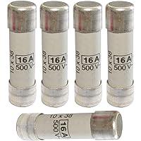 AERZETIX: 5x Fusible cerámico gG 3.8cm 16A 500VAC