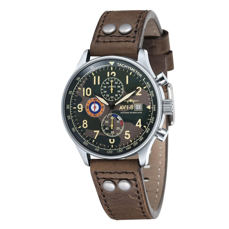avi-8 Armbanduhr MilitÄr Aviator Englisch Hawker Hurricane Bewegung Chronograph Quarz japanisch
