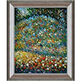 overstockArt Apple Tree I Oil Painting with Athenian Silver Frame by Klimt, Antique Silver Finish