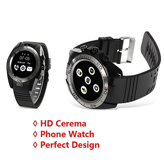 Amazon.com: Hangang Touch Screen Clock phone Smart Watch ...